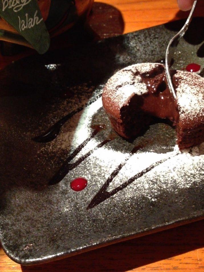 Fondant Chocolat /スイーツカフェ・ビアンララァ「biang lalah」