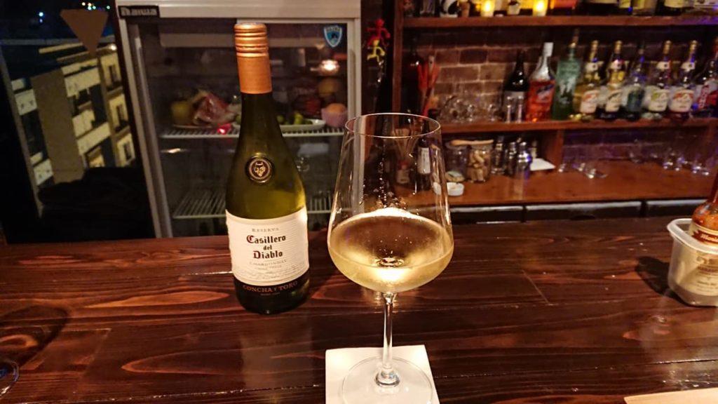 White wine/Sacos-Bar/Photo:Setsuko