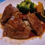 里芋と牛肉のステーキ