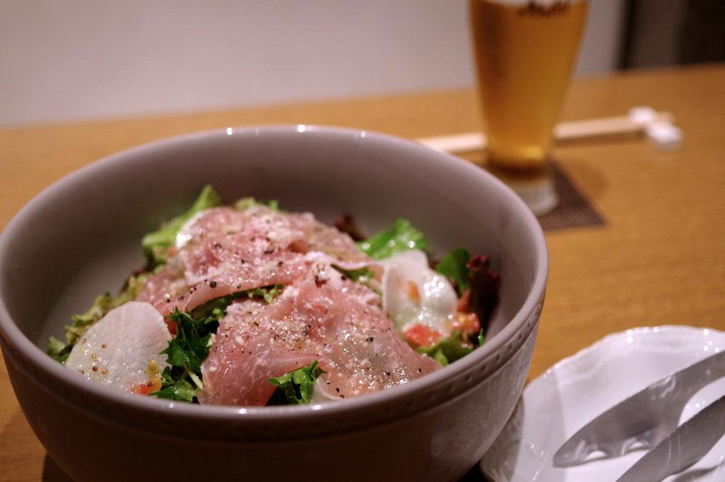 水菜と生ハムの和風サラダ/ShareMenu/Café Agre Able